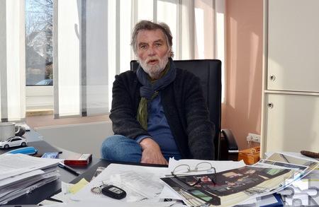 """Hardy Kremer, der Geschäftsführer der """"Haus Sonne"""" gGmbH, nennt als Ziel des Integrationsprozesses der psychisch Erkrankten die Rückkehr in ein möglichst selbstständiges und unabhängiges Leben."""" Foto: Manfred Lang/pp/Agentur ProfiPress"""