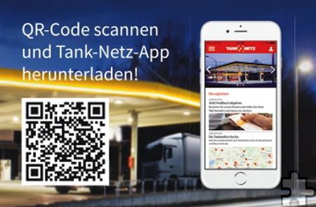Per QR-Code können sich Smartphone-Nutzer die Tank-Netz-App bequem auf ihr Gerät herunterladen. Foto: Tank-Netz/pp/Agentur ProfiPress