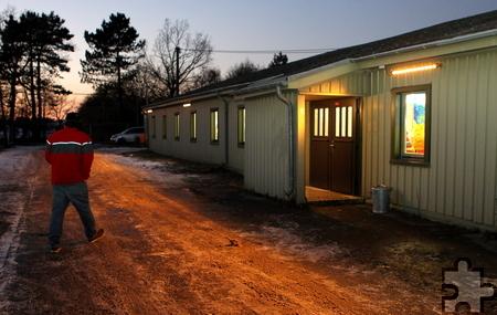 Aktuell können in zehn der 15 hergerichteten Häusern der ehemaligen belgischen Truppenunterkunft 300 Flüchtlinge untergebracht werden. Foto: Franz Küpper/pp/Agentur ProfiPress