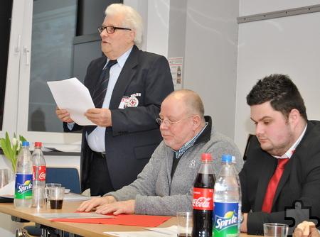 Über die solide Finanzsituation des Ortsvereins Euskirchen gab Schatzmeister Heinz Reul Auskunft. Foto: Renate Hotse/pp/Agentur ProfiPress