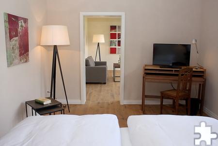 Vier-Sterne-Standard bieten die Zimmer im 2015 eröffneten Gästehaus des Klosters. Für den kleinen Geldbeutel gibt es aber auch Unterkünfte zum Preis von 35 Euro – und zwar bei Vollverpflegung. Foto: Steffi Tucholke/pp/Agentur ProfiPress