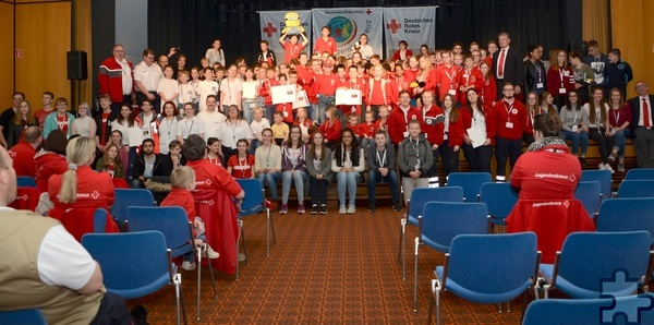 Alle Teilnehmer auf einen Blick, glücklich und froh, dass alles gut geklappt hat. Foto: Sarah Winter/pp/Agentur ProfiPress