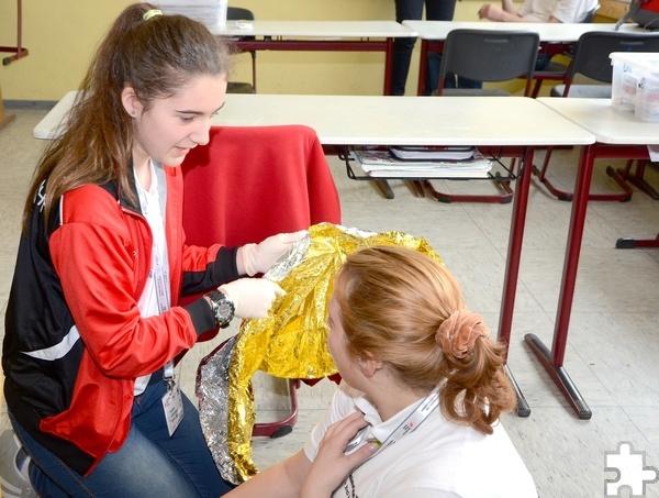 Bei den Einzelaufgaben ging es unter anderem um die bestmögliche Versorgung der Verletzten. Foto: Sarah Winter/pp/Agentur ProfiPress