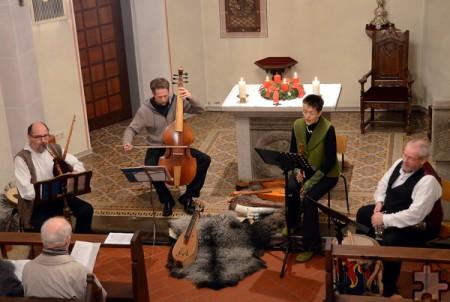"""Musik des Mittelalters bringt die Gruppe """"Fidula"""" (hier bei einem Konzert 2012 in der Kalenberger Kirche) am Samstag, 6. Mai, um 16 Uhr in die Kirche Kalenberg. Archivfoto: Manfred Lang/pp/Agentur ProfiPress"""