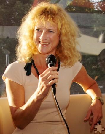 Die Hörfunkmoderatorin Katia Franke wird Angela Babels einfühlsame Texte vortragen. Foto: Peter Hoffmann/pp/Agentur ProfiPress