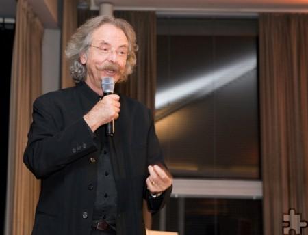 Der frühere Hobbytheker Jean Pütz ist langjähriger Pate der NRW-Stiftung und Gast beim Stiftungstag in Steinfeld. Foto: NRW-Stiftung/pp/Agentur ProfiPress