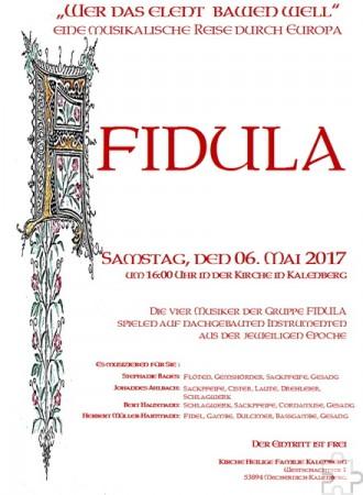 """Die vier Musiker der Gruppe """"Fidula"""" spielen auf nachgebauten mittelalterlichen Instrumenten. Foto: Veranstalter/pp/Agentur ProfiPress"""