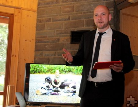 Roetgens Bürgermeister Jorma Klauss eröffnete die Lit.Eifel-Veranstaltung.